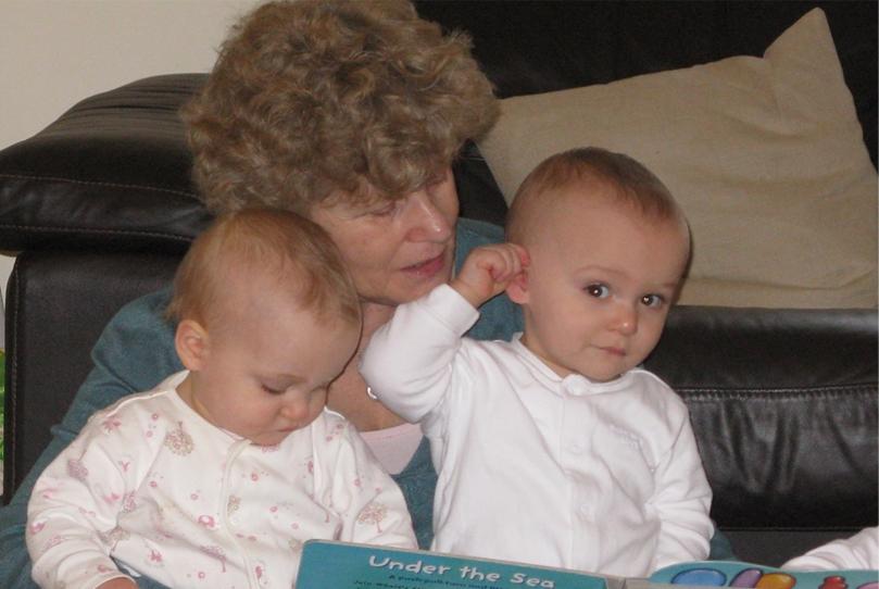 Shelagh Moore with her grandchildren